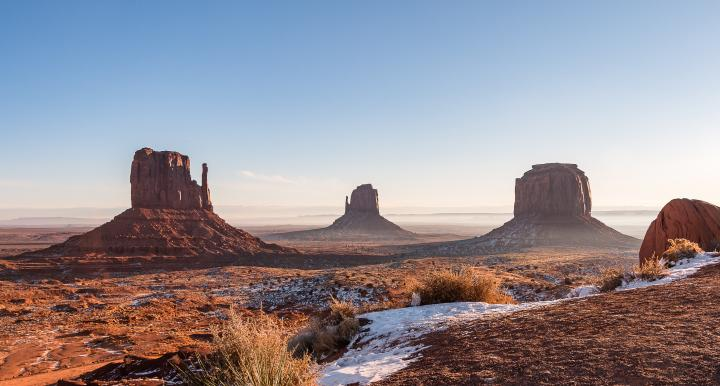 Monument Valley, located on Navajo lands
